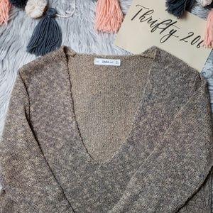 [Zara Knit] Deep V Sweater